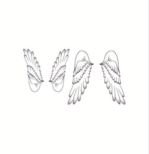 Tattoo Aufkleber wasserdichte weibliche dauerhafte sexy handbemalte Flügel Handgelenk Transferaufkleber