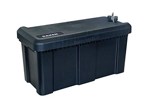 Deichselbox mit Schloss, Werkzeugkasten für Anhänger Staukiste 23 ltr Anhängerbox, Daken B23-1