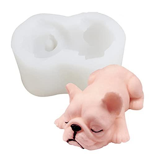 Moldes de silicona para perros, lindos moldes de velas de caramelo, 3D Shar Pei Dog Mold Template DIY suministros especiales para decoración de barra de mesa