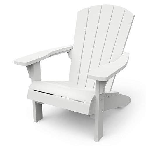 Keter Troy Adirondack Garden Chair, Wh