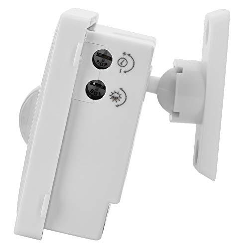 Mxzzand Interruptor de Sensor Ajustable Interruptor de Sensor de Infrarrojos Humano Blanco para luz 12V