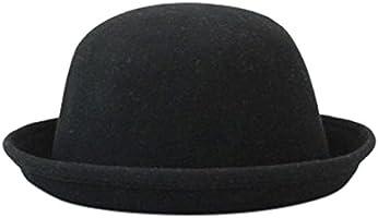 ボーラー帽 ボーラーハット レディース メンズ 帽子 ブラック 黒/A80