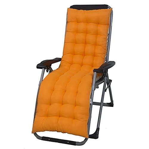 QWERTYUKJ Cojín Silla Universal Tumbona Asiento Espalda Alta Mecedora Cojin De Sofá Acolchado del Almohadilla con Lazos-púrpura Chaise Longue Cojines Sin Silla (Color : Orange, Size : 155X48X8CM)