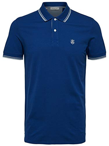 SELECTED HOMME Herren Slhnewseason W Noos Poloshirt, Navy Peony, XL EU