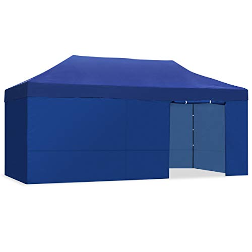 Mc Haus CARPLE - Faltbares wasserdichtes Outdoor-Zelt, Blau, 3X6m