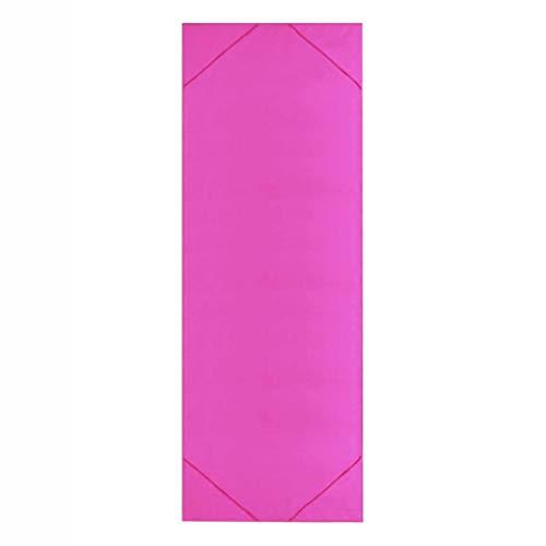LGW Toalla de Yoga Toalla de Yoga - 1pc Microfibra Toalla de Yoga Toalla de Yoga Antideslizante Afinado de Sudor Aptitud Pilates Pad Funda Adecuado para Varios propósitos. (Color : Rose Red)