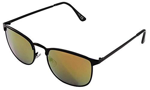 Chic-Net Las Gafas de Sol Wayfarer tintados Retro Gafas de Marco de Metal reflejan 400 UV Naranja Unisex