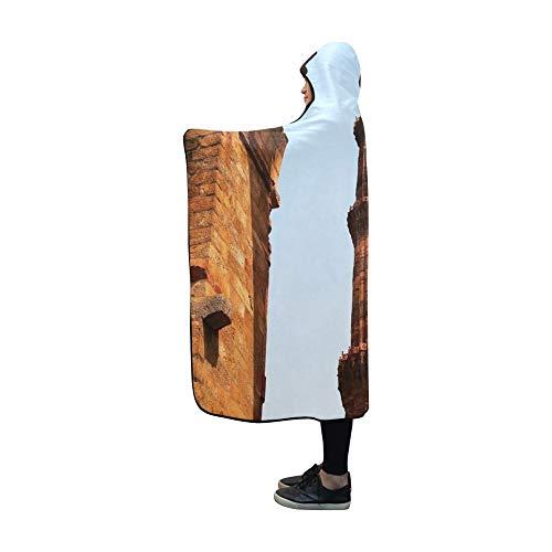 YXUAOQ Mit Kapuze Decke Qutub Qutb Minar höchste freistehende Steindecke 60 x 50 Zoll Comfotable Hooded Throw Wrap