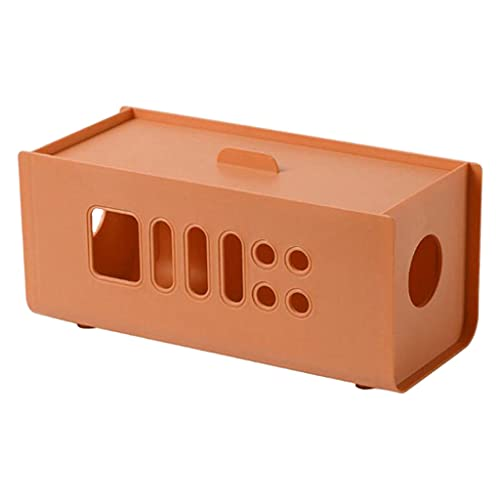 prasku Caja organizadora de Cables Caja organizadora de Cables para Ocultar Cables Cables para Escritorio Oficina en casa Cocina TV Cables de computadora - Naranja