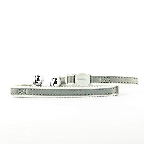 National Engraver Collare di Gatto Staccabile Personalizzato Gattino ID Riflettente Fibbia di Sicurezza Ancol incisa - Argento