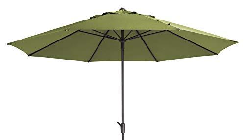 Mad Absolut wetterfester Gartenschirm Timor Luxe 400 Sage grün, mit Kurbel, UV-Schutz 50 Plus
