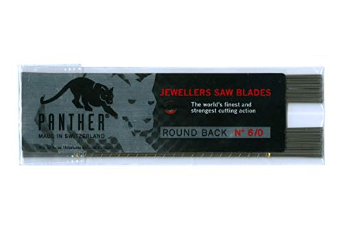 12 Pack PANTHER Jewelers Sawblades - Excellent Quality - Made in Switzerland - Choose sz 8/0 Thru 8 (Size #6/0)