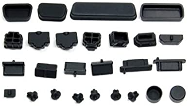Cosmos Black silicone anti-dust stopper/plug set