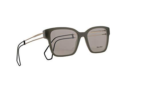 Miu Miu MU02PV Brillen 51-18-145 Grüne Mit Demonstrationsgläsern USK1O1 MU 02PV VMU02PV VMU 02PV