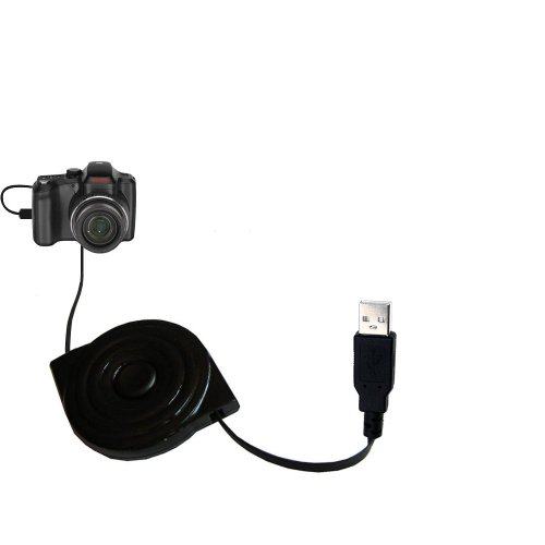 USB Power Port Ready Retractable USB Charge USB Cable Wired specifically for The Kodak Easyshare Z1015 and uses TipExchange -  Gomadic, SCR-4588