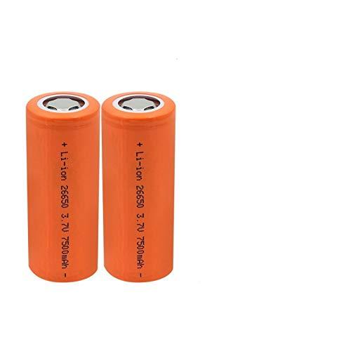 WSXYD Nueva Batería De Litio Recargable De Alto Drenaje 10a 7500mah 3.7v 26650, BateríAs De Alta Descarga De Gran Corriente 2PCS