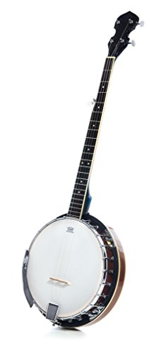 Resoluute 5 String Resonator Banjo with 24 Brackets with Closed Back and Geared 5th Tuner