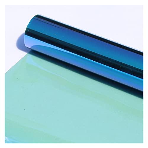 """LáMinas Para Ventanas De Coche 60""""X20"""" Chameleon Blue & Green Glass Window Tint Tinte Film VLT 55% para Windows Side Windows Solar Solar + UV Protection Protection Laminas Para Tintar Lunas Coche"""