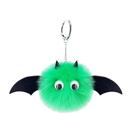 Amosfun Fledermaus Haar Ball Schlüsselbund Pom Pom Schlüsselanhänger Plüsch Handtasche Schlüsselbund Brieftasche Rucksack Charme
