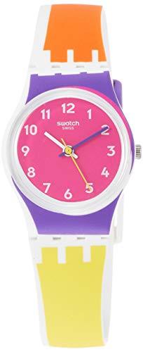 Swatch Reloj Analógico para Mujer de Cuarzo con Correa en Silicona LW165