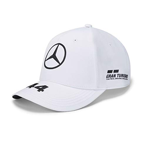 Fuel For Fans Mercedes Benz AMG Petronas F1 2020 Kids Lewis Hamilton Hat Black/White (White), One Size