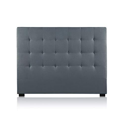 INTENSEDECO Intense Déco - Tête de lit capitonnée Premium Tissu 140cm Gris