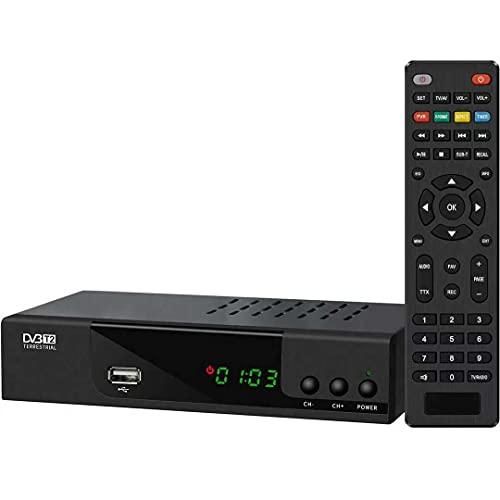 Decoder Ricevitore Digitale Terrestre TV DVB-T2 IPTV H.265 Full HD 1080P, Nuovo Standard Con Codifica HEVC Main 10 Bit, WiFi Supporto