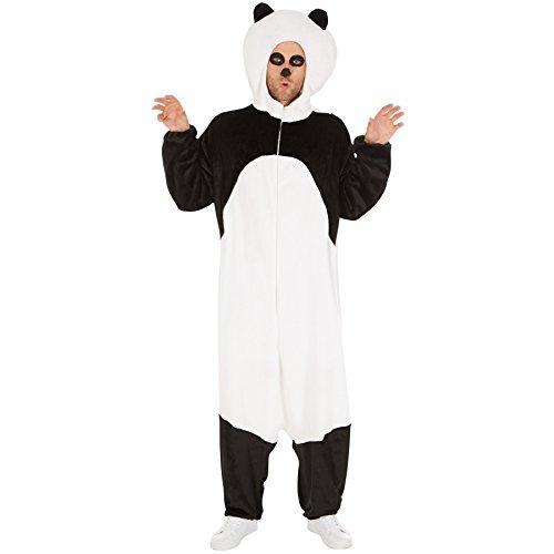 TecTake dressforfun Kostüm Panda für Sie und Ihn | Aus weichem Plüschstoff | Coole Kapuze, die den Pandakopf darstellt | Ideal für Straßenumzüge geeignet (XL | Nr. 300886)