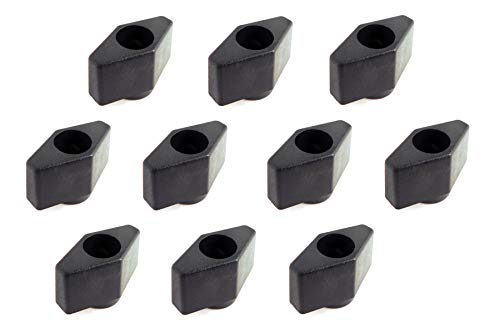 """Lot 10 Each 1/4 20 Female Thread T Knobs 1"""" Wide by .75' high with Through Insert TKI-1/4-x10"""