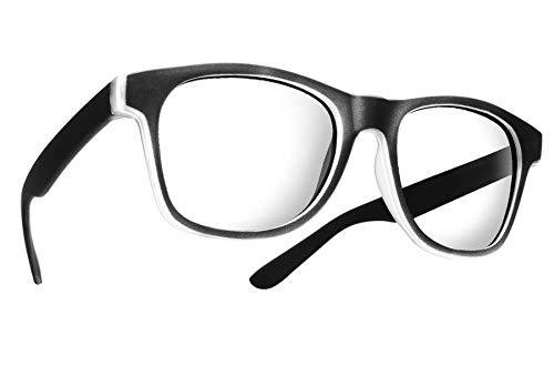 MFAZ Morefaz Ltd New Unisex (Damen Herren) Retro Vintage Lesebrille Brille +0.50 +0.75 +1.0 +1.5 +2.0 +2.5 +3.00 +4.00 Reading Glasses (0.50, Rubi Black)