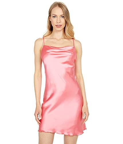 bebe Satin Bias Mini Dress Coral LG