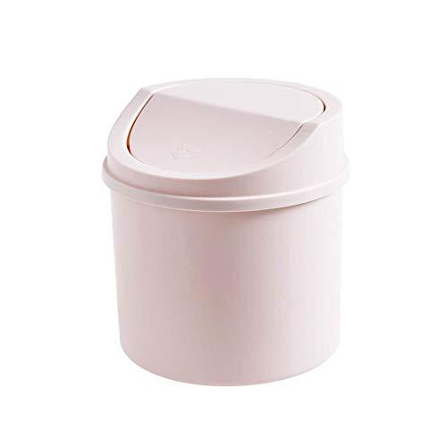 DTTKKUE Mini Mesa del Bote de Basura, Resistente al Agua de plástico pequeña Papelera, 9L Cubo de plástico con Tapa, Productos del hogar Papelera de Home Hotel WC Oficinas Dorm Rooms,PK