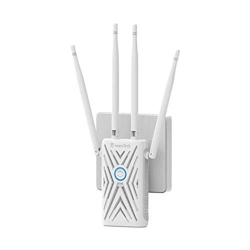 Amplificador/repetidor/WiFi Range Booster/AP, (Dual Band WLAN AC+N, 867 Mbit/s 5 GHz + 300 Mbit/s WiFi de 2,4 GHz, fácil instalación, conexión WPS, funciona con todos los routers WLAN