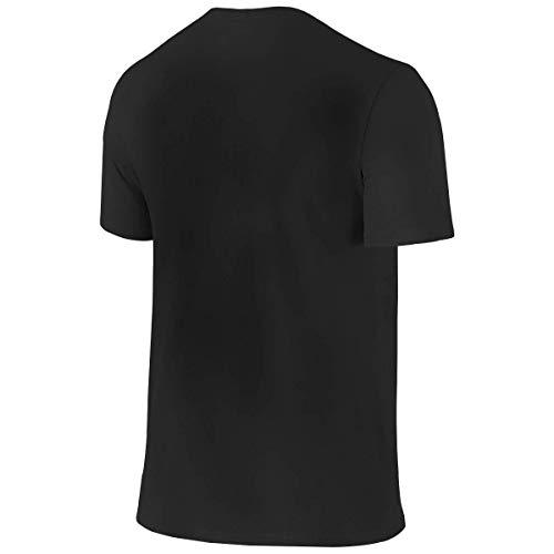 Men's Neil Young Crazy Horse Logo Clothes T-Shirt Short Sleeve Black L Tee T Shirt CEW Neck Summer Tshirt for Men