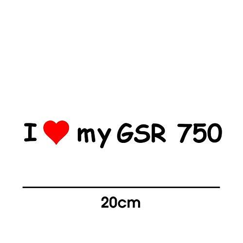 myrockshirt I Love My Suzuki GSR 750 20cm Aufkleber für Motorrad Bike Roller Mofa Sticker Decal Tuningaufkleber Tuning