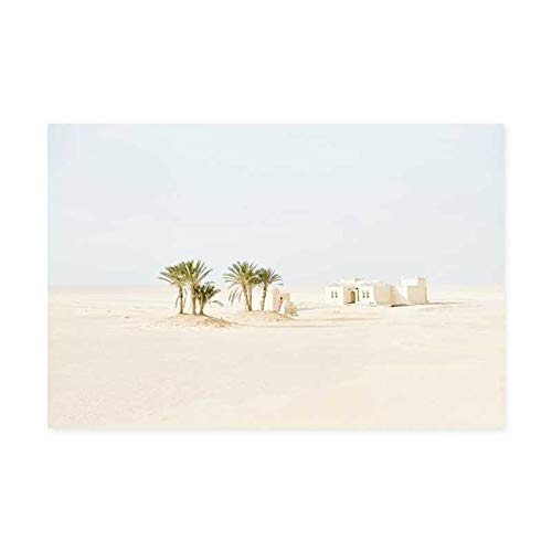 N / A Palm Tree White Canvas Mural Wall Art Picture