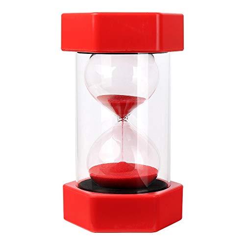Schramm® XXL Sanduhr 10 Minuten Rot Sanduhren ca.15,5 x 7,8 cm Sandclock Eieruhr Sand Uhr Zeituhr Kurzzeituhr