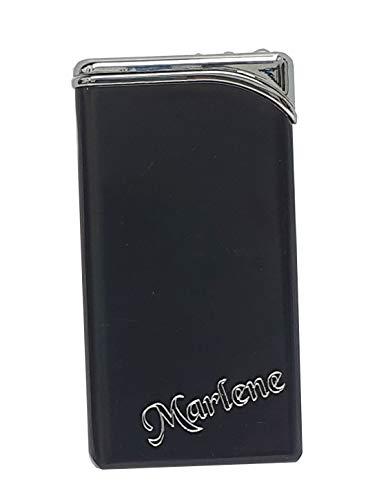 Superflaches Feuerzeug/Gasfeuerzeug mit SOFORTGRAVUR + VORSCHAU: Gravur 1 Vorname/Initialen oder 1 Wort auf der Vorderseite.