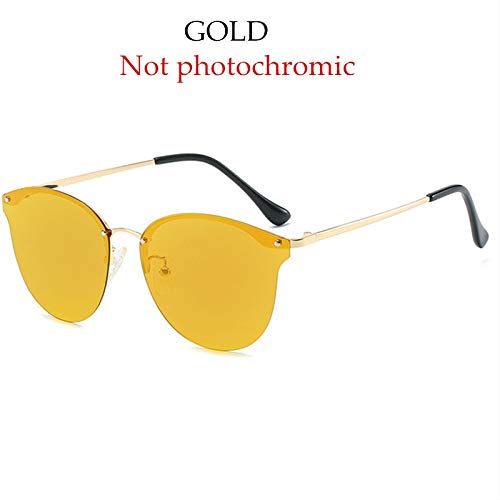Burenqi@ Gafas De Sol Fotocrómicas Mujeres Polarizadas Conducción Cat Eye Gafas De Sol Damas Diseño De Marca Half Frame Eyewear Uv400