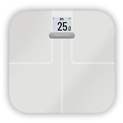 Garmin Index S2 Smart Waage – misst das Gewicht, Gewichtstrends, Körperfettanteil, Muskelmasse, BMI. Mit WLAN Schnittstelle, Garmin Connect App-Anbindung und für bis zu 16 Personen.