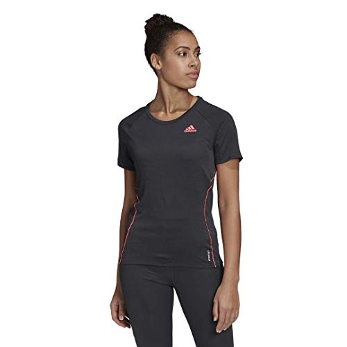 adidas Runner - Maglietta da Donna, Donna, T-Shirt, GZT75, Nero, XL