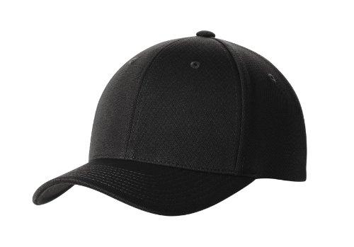 Premium Flex Fit Hat - High Performance Cool & Dry Baseball Caps in 7 Colors Black