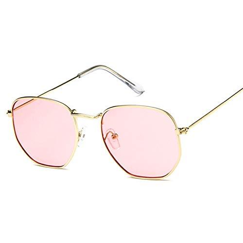 Sunglasses Gafas de Sol de Moda Gafas De Sol De Diseñador Vintage para Mujer, Hombre, Marca De Lujo, Montura Cuadrada PE