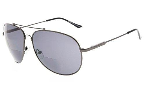 Eyekepper grote Bifocal zonnebril Polit stijl zonneschijn lezers met flexibele Memory Bridge en Arm