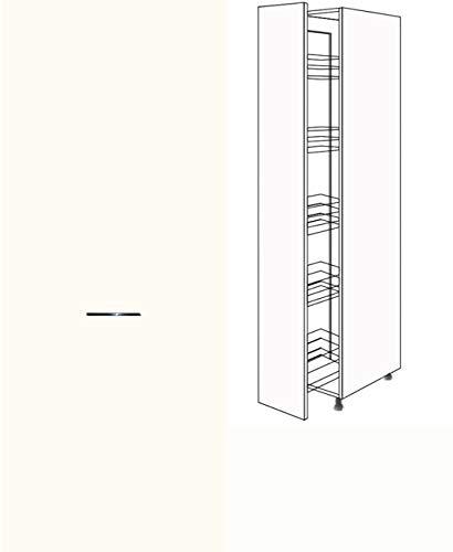 Premium-Ambiente CHB275 Hochschrank Apothekerschrank 207cm hoch Vollauszug Softclosing EURODEKOR® (Breite 40cm, 68 Basisweiss)