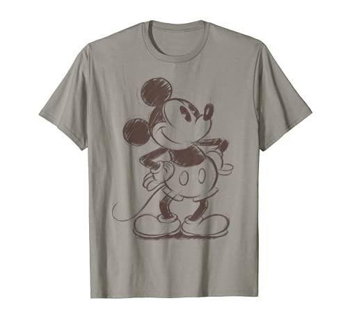Disney Mickey Mouse Pencil Sketch Original Graphic T-Shirt