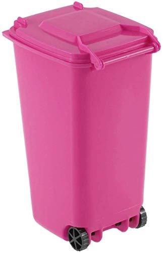 KAIXIN Plástico Reciclado Mini Bote De Basura Rodante Ofici