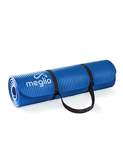 Tappetino da Allenamento Meglio, Tappetino Yoga Multiuso NBR 10 mm di Spessore per Fitness, Pilates, Ginnastica, per il campeggio, Allenamenti in casa, per Uomini e Donne, 183cm x 61cm