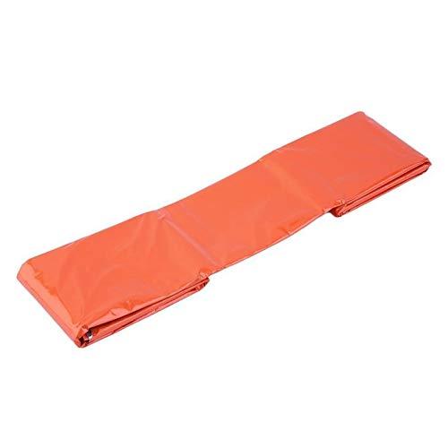 Cloverclover OUTAD Sac de Couchage d'urgence Sac de Survie réfléchissant Thermique Orange