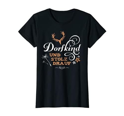 Mujer Dorfkind - Pueblo infantil con frases divertidas, país y orgulloso Camiseta